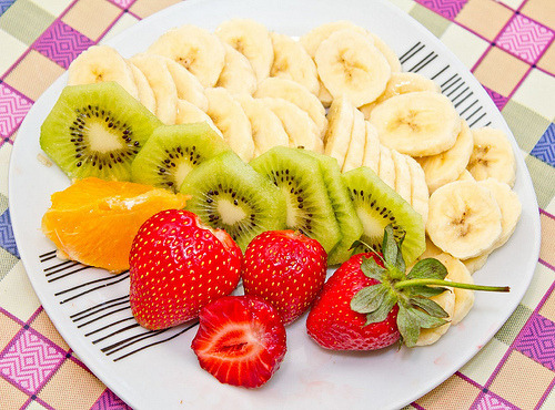 Banana, Strawberry, Fruit