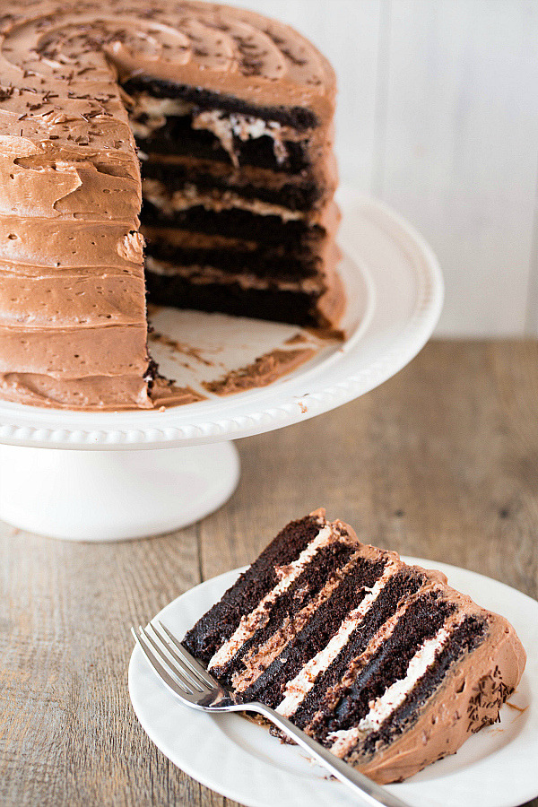 Six Layer Chocolate Cake Recipe (x)