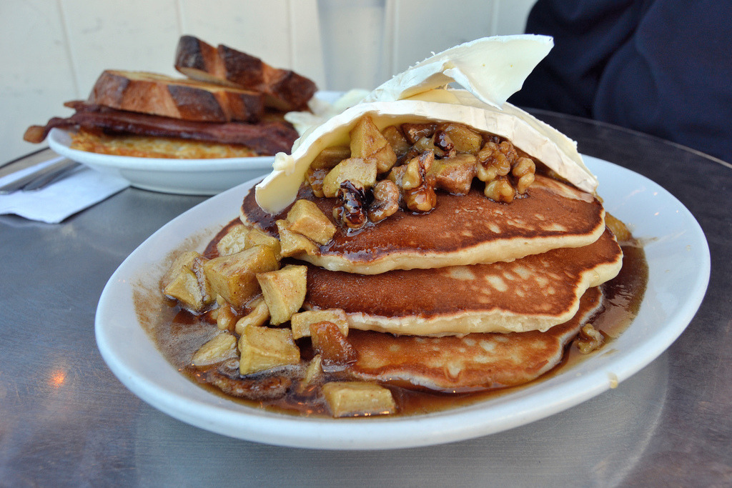 Brie, Apple & Walnut Pancakes
