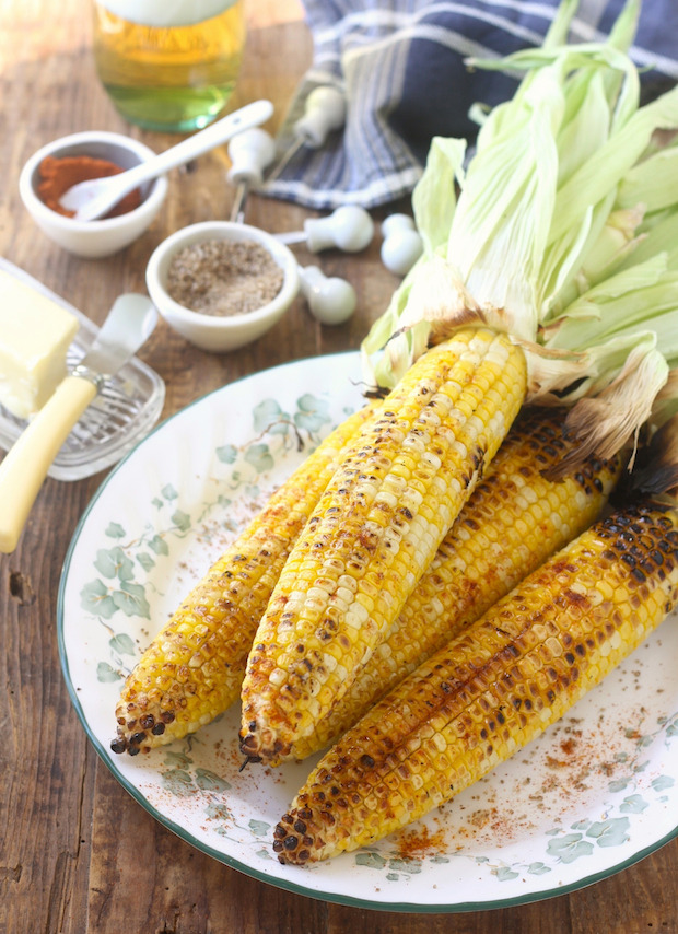 Grilled Corn With Sichuan Pepper Sea Salt & Smoked Serrano Chili Pepper