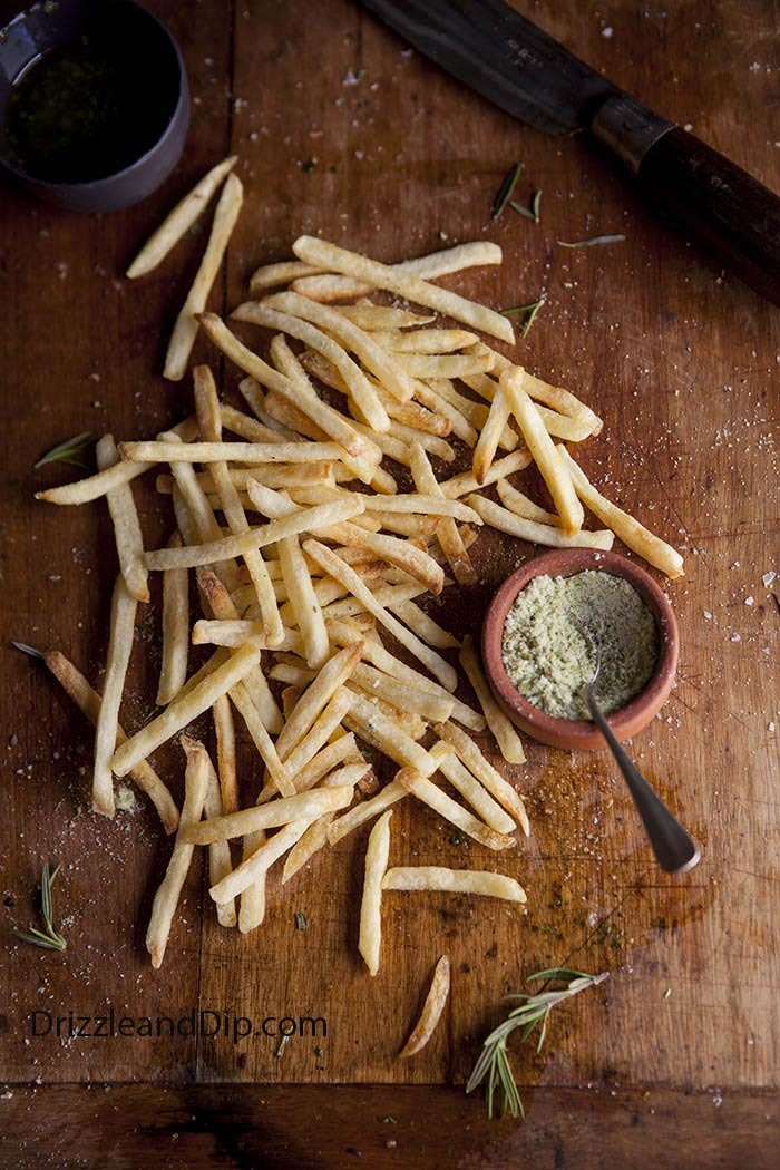 fries with rosemary and lemon salt