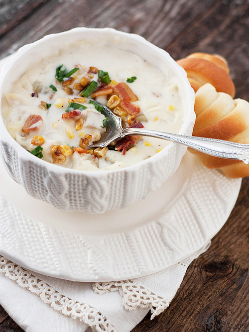 Creamy Chicken Corn Chowder Seasons and Suppers on We Heart It.