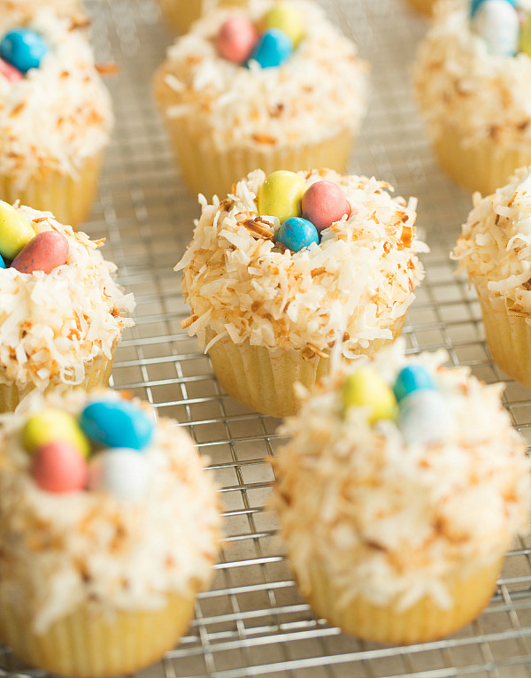 Coconut Cupcakes with Toasted Coconut Frosting