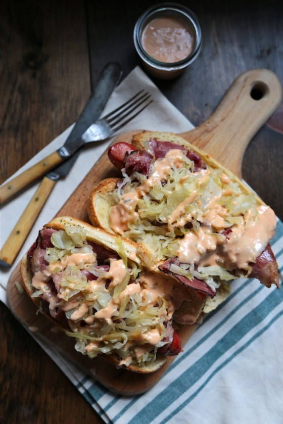 Rueben Hot Dog (by Country Cleaver)