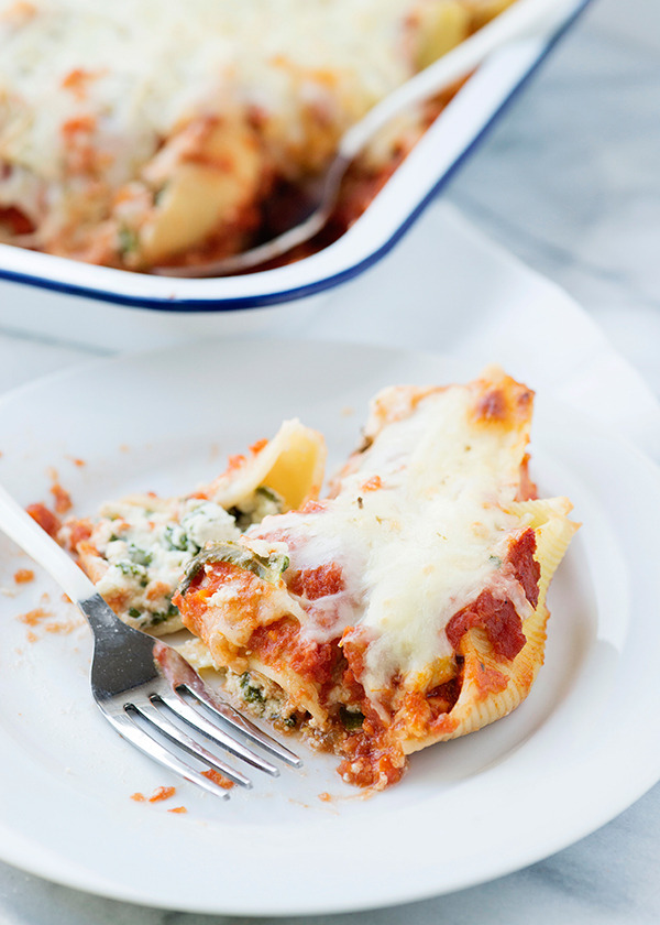Kale Stuffed Shells