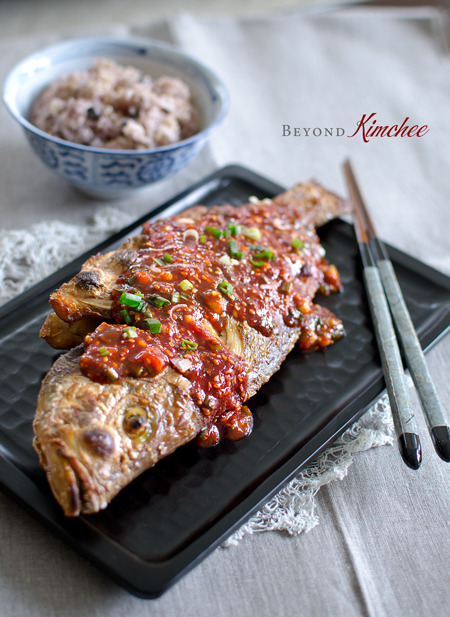 Broiled Red Snapper with Korean Chili Sauce