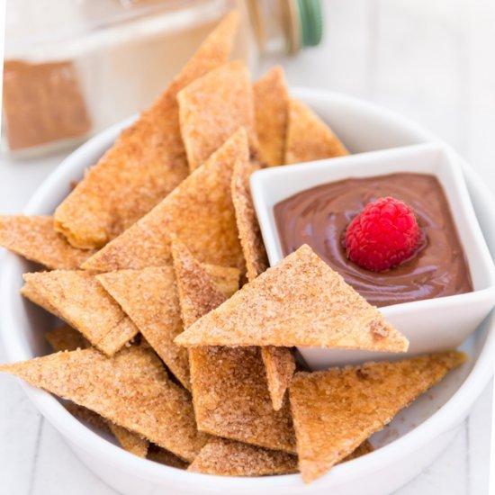 Cinnamon Sugar Tortilla Chips Follow