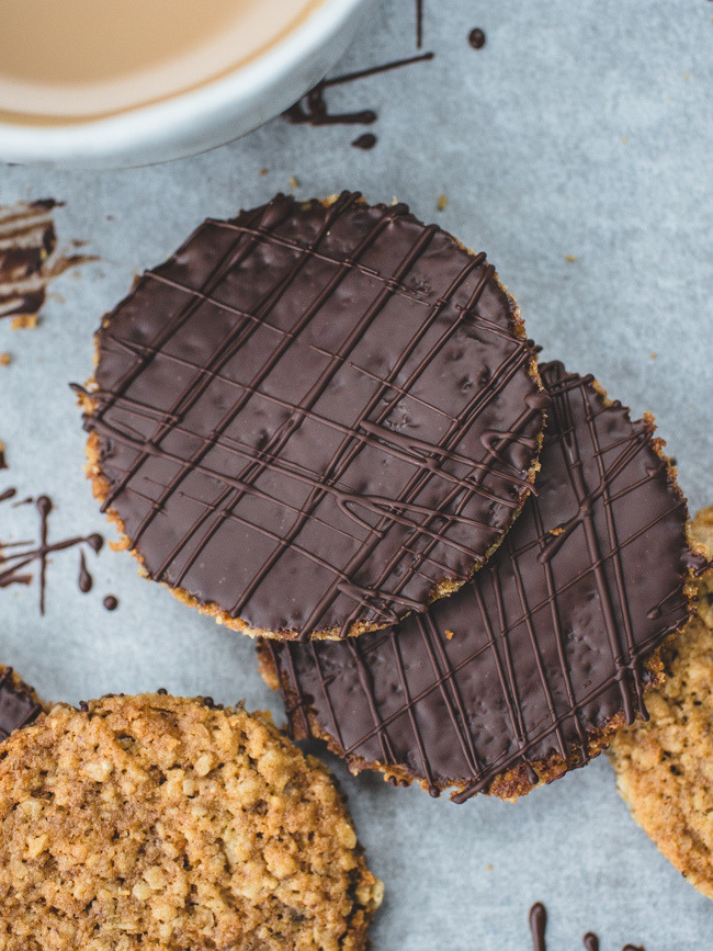 DIY Chocolate HobNob Biscuits