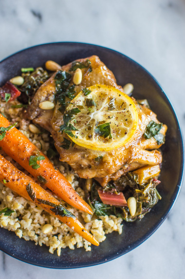 One-Pan Braised Lemon Paprika Chicken with Sumac