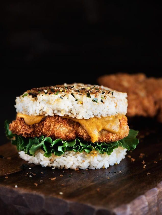 Katsu Fried Chicken and Rice Burger Honest Cooking