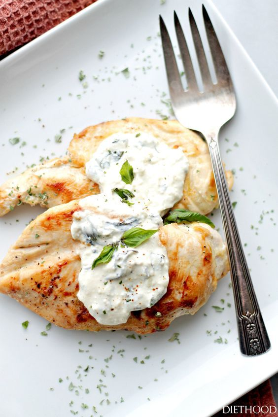 Basil-Feta Sauce Chicken Diethood